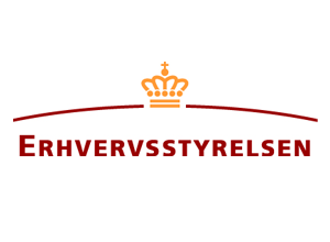 Logo for Erhvervsstyrelsen